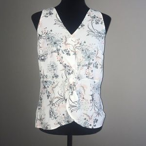NWT! Maurice's Twist Front Floral Tank Blouse M